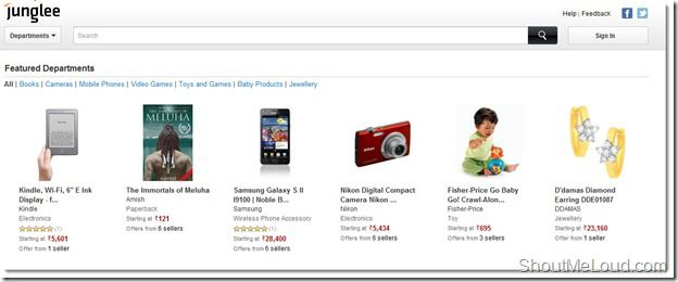 Junglee.com : Amazon India Shopping Store