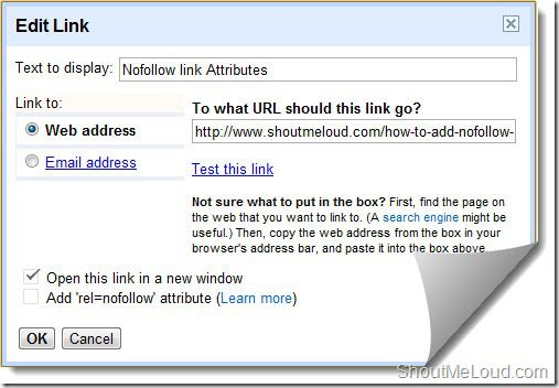 BlogSpot nofollow link rel BlogSpot Advanced SEO Preference: Robots.txt, Redirection, Meta Tag