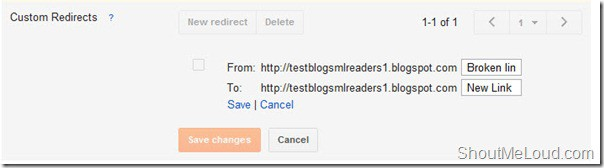 Custom redirects BlogSpot Advanced SEO Preference: Robots.txt, Redirection, Meta Tag