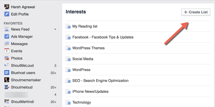 interests list