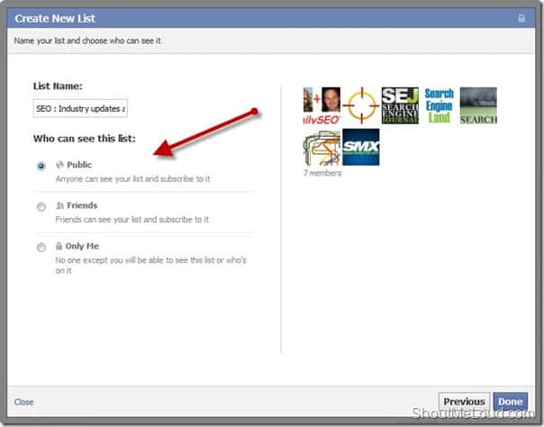 Public list Facebook Facebook Interest List : A hidden Gem for Online Marketers
