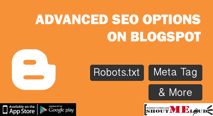 SEO Options on BlogSpot