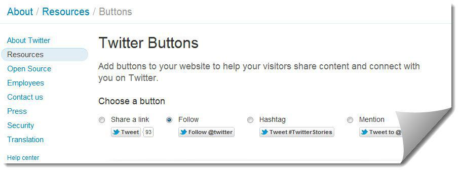 Twitter Subscription button