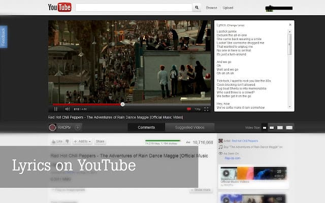 Youtube Lyrics Addon 5 Useful YouTube Chrome Plugin for Better Experience