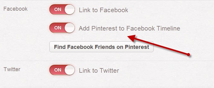Add Pinterst t Facebook timeline How to Get Followers on Pinterest : Most Effective Ways