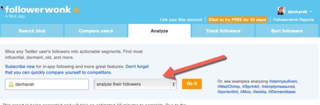 Analyze Twitter followers