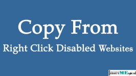 How To Copy From Right Click Disabled Websites