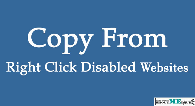 Copy From Right Click Disabled Websites