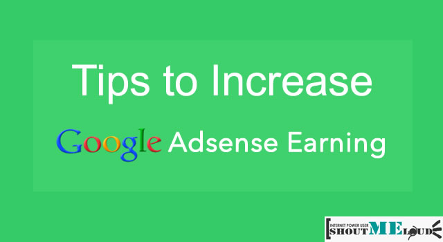 Increase Adsense Earning