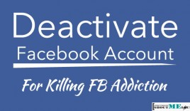 Deactivate Facebook Account For Killing FB Addiction