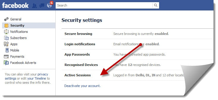 Deactivation of facebook account what happens