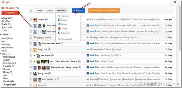 Engagio Social Conversation Engagio Addon: Bring Social Conversation to Gmail inbox