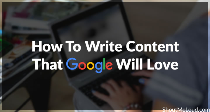 How to write content for Google