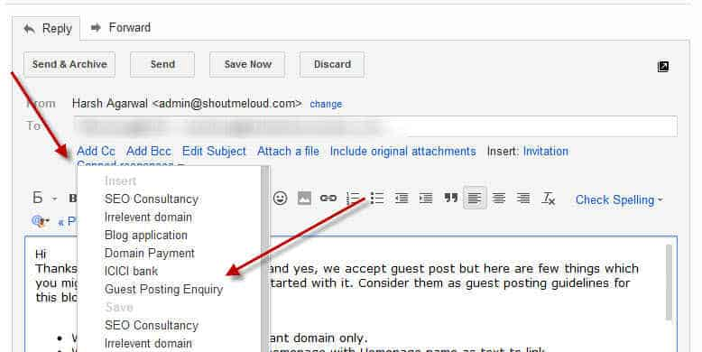 Insert Gmail Canned response How to Create Gmail Email Template and Why?