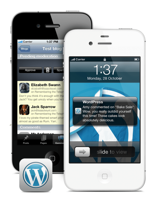WordPress Push notification WordPress iPhone App : Now Push Enabled