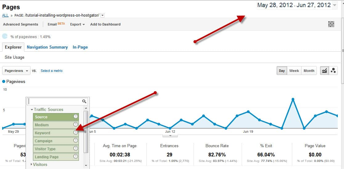 Analyzing page traffic Google Analytics JS Bookmarklet: Check WebPage Traffic Instantly