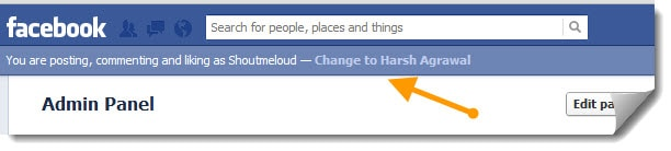 Facebook Page Admins Can Comment & Like with Personal Profile
