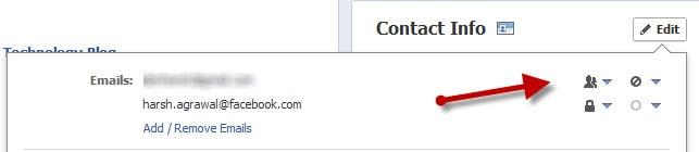 Edit Facebook Email address
