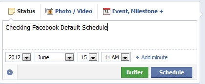 Fb fan page Schedule feature