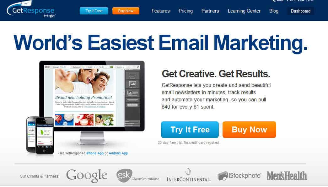Getreponse review GetResponse Review : Opt in Email Marketing Tool