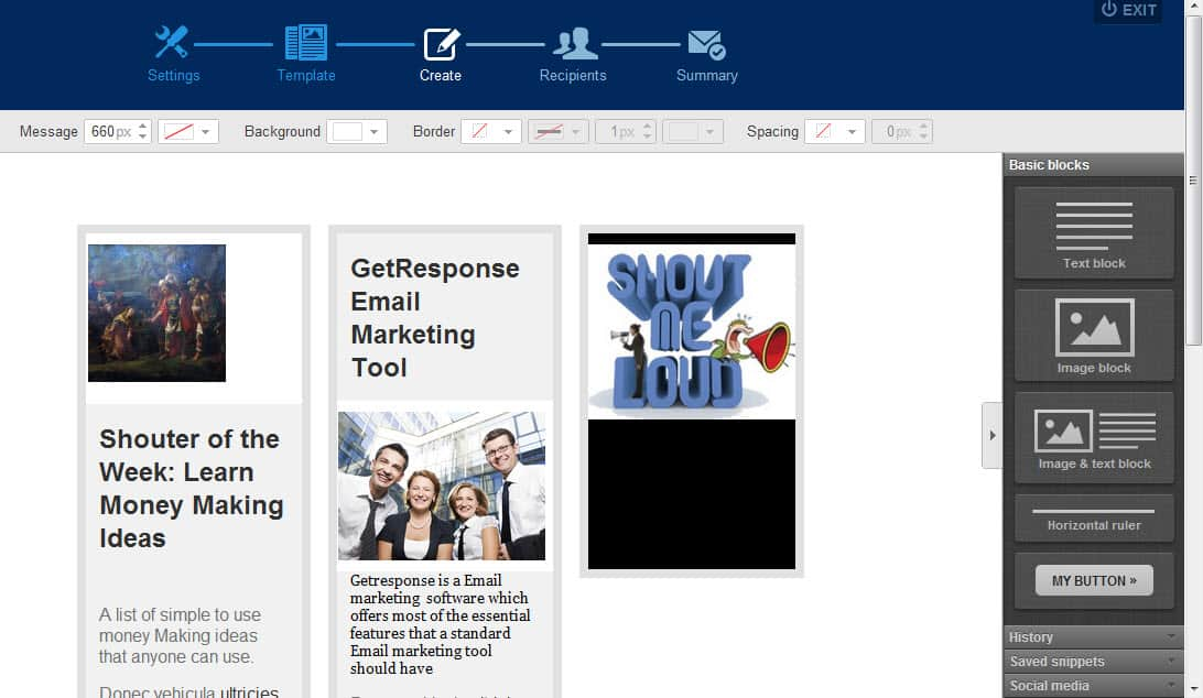 Getresponse Email template GetResponse Review : Opt in Email Marketing Tool