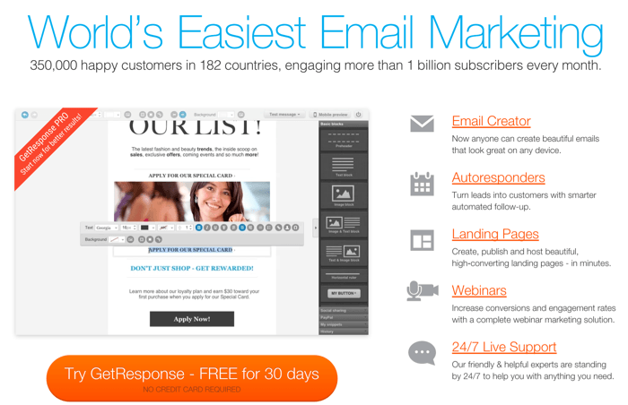 blog autoresponders email marketing tools