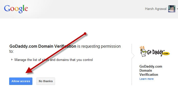 Godaddy domain Ownership verify Google Made Domain Verification Easy With Godaddy & eNom