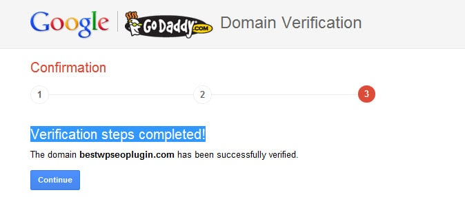 Google Domain Verification