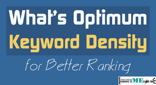 Keyword Density for Better Ranking