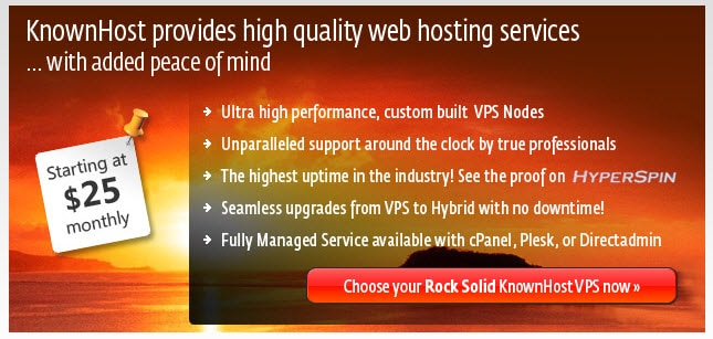 Knownhost VPS Best Alternatives to HostGator Hosting