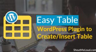 Easy Table: WordPress Plugin to Create/Insert Table