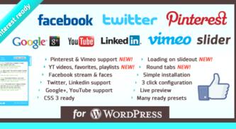 WordPress Social Slider Plugin for More Social Media Followers