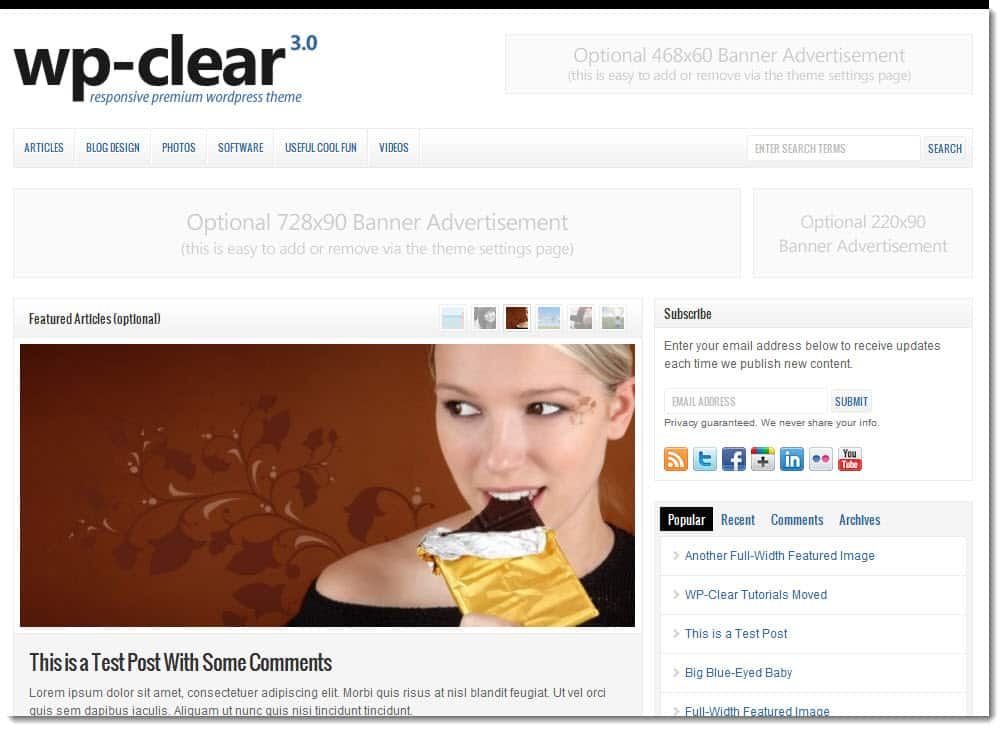 Wp clear3.0 Wp Clear WordPress Theme by SoloStream