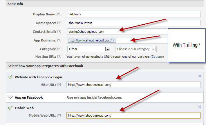 Creating app on Facebook How to Add Facebook Recommendations Bar to Thesis Theme