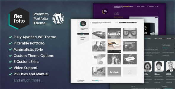 FlexFolio 10  Free & Premium Pinterest Style WordPress Themes