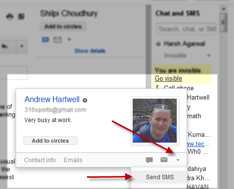 Gmail Free SMS Service is Icing on the Cake