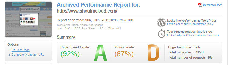 Page Speed at Knownhost