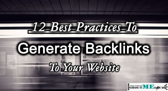 Ways to Generate Backlinks
