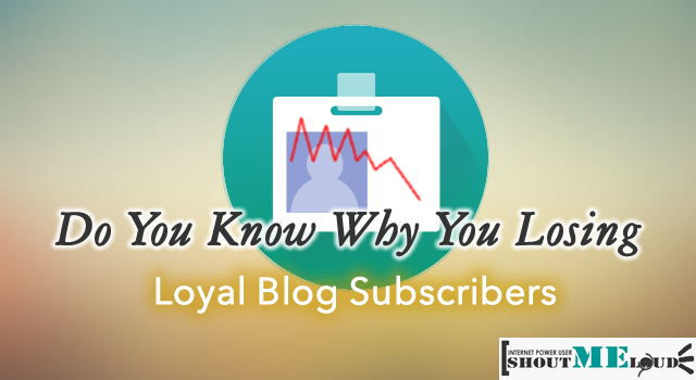 Why Loosing Blog Subscribers