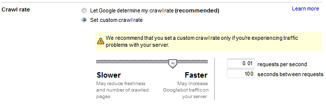 how to increase crawl rate