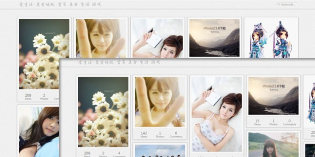 iPhoto Pinterest Like WordPress theme 10  Free & Premium Pinterest Style WordPress Themes