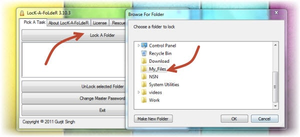 lock folder How to Encrypt Folder with Password Using Lock A Folder?