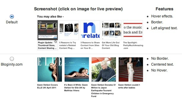 nRelate related thumbnail plugin