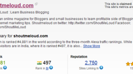PHP Code to Get Alexa Rank and Site Linking