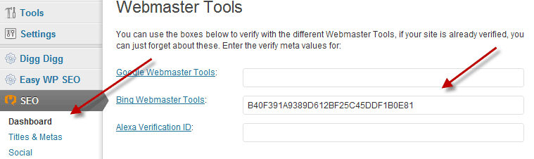 Bing site verification Getting Started With Bing Webmaster Tools