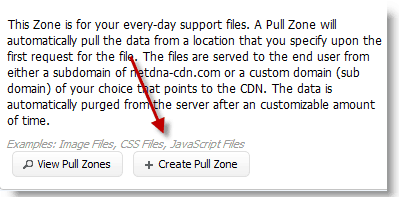 Create MAXCDN Pull Zone