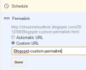 Thumbnail image for How to use Custom Permalink for Blogspot Blogs