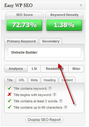Easywpseo score How to use Easy WP SEO WordPress Plugin