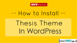 How to Install Thesis Theme in WordPress [Starters Edition]