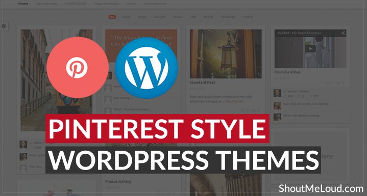 Free & Premium Pinterest Style WordPress Themes